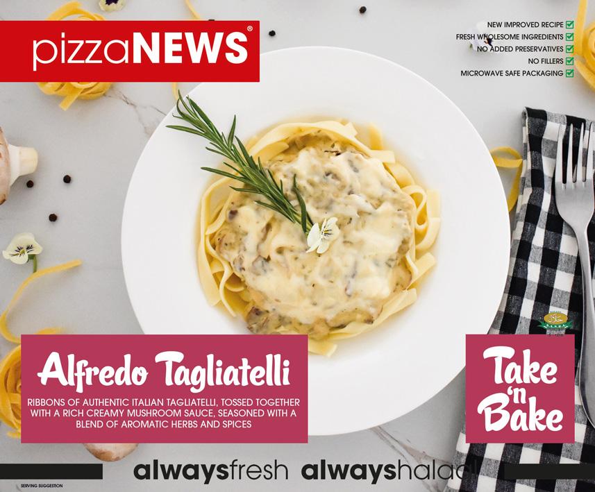 Frozen Food Alfredo Tagliatelli Take n Bake pizzaNEWS