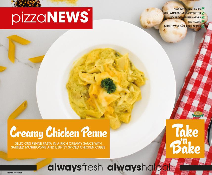 Frozen Food Creamy Chicken Penne Take n Bake pizzaNEWS