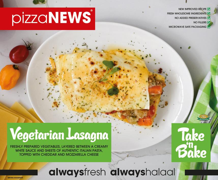 Frozen Food Vegetarian Lasagna Take n Bake pizzaNEWS
